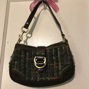Authentic multi colored coach purse